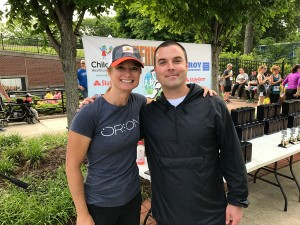 Rachel Langelotti of Orion Racing and Lee Elliott of the Swift-Cantrell Park Foundation
