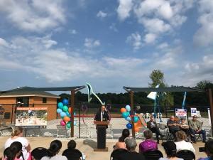 Kennesaw Mayor Easterling Dedicating the Splash Pad