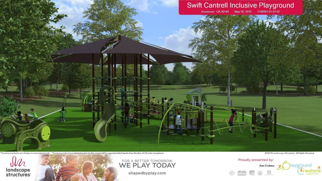 Inclusive Playground at Swift-Cantrell Park